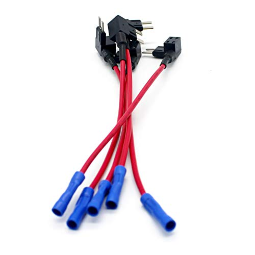 Dergtgh 12-24V hinzufügen Circuit Standard Mini Micro Blade Fuse Boxes Halter ACS ATO ATC Piggy Back Sicherungen Tap Atc Mini Blade Fuse