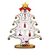Weihnachtsbaum, Tannenbaum künstliche Tanne, mini weihnachtsbaum geschmückt, DIY Weihnachtsdeko für Tische & Schreibtische - perfekt für zu Hause & im Büro