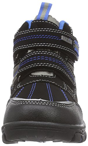Canadians 467 184, Bottes de neige de hauteur moyenne, doublure chaude garçon Noir (black/royal Blue 008)