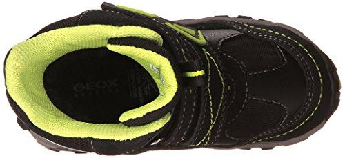 Geox Jr Himalaya B Abx B, Bottes en caoutchouc à tige basse et doublure chaude garçon Noir - Schwarz (C0802BLACK/LIME)