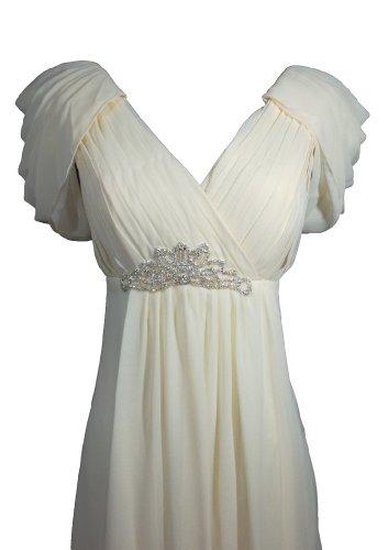 Alivila.Y Fashion -  Vestito  - Senza maniche  - Donna Cream