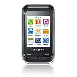 Samsung C3300 Handy (6,1 cm (2,4 Zoll) Display, Touchscreen, 1,3 Megapixel Kamera) deep-black