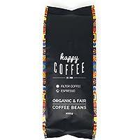 HAPPY COFFEE Bio Espresso Bohnen 1kg | Fairtrade Arabica Kaffee-Bohnen direkt aus Mexiko | Schonend geröstet in Hamburg | Perfekt für Kaffeeautomat, Espressomaschine und Siebhalter