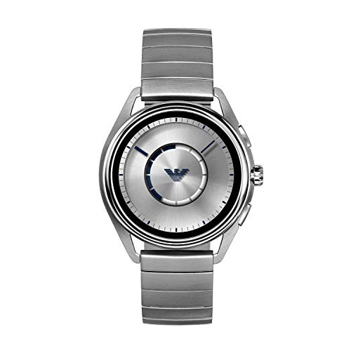 Emporio Armani Mens Digital Watch with Stainless Steel Strap ART5006