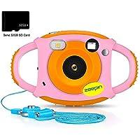 ZEEPIN Caméra Enfant, Appareil Photo Numérique 1080P HD Antichoc Rechargable avec Ecran LCD 1.77 Pouces, Effet Filtre 7 Couleurs pour Garçons Filles