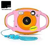 ZEEPIN Caméra Enfant, Appareil Photo Numérique 1080P HD Antichoc Rechargable avec...