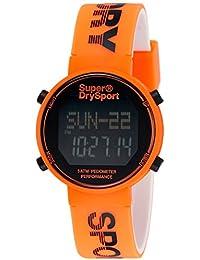 Superdry Digi Pedometer Digital Black Dial Men's Watch-SYG203O