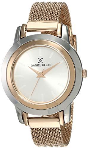 Daniel Klein Analog Silver Dial Women's Watch-DK12061-7