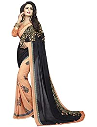 PALKAANO Saree For Womens Georgette Printed Designer Saree With Blouse Piece
