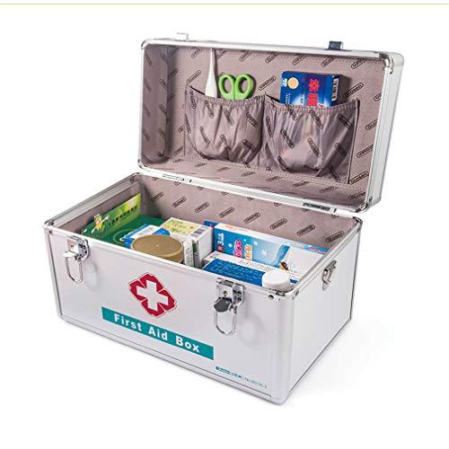 Rfsbqlcs 14L Durable Aluminium Medizin Safe Lock Boxen Container Gesundheitswesen Medizin Schmuck Verschreibungspflichtigen Schrank Organizer mit Kombination