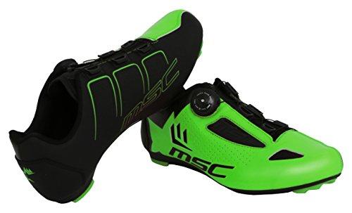 MSC Bikes Aero Road Zapatillas Ciclismo, Verde, T-42