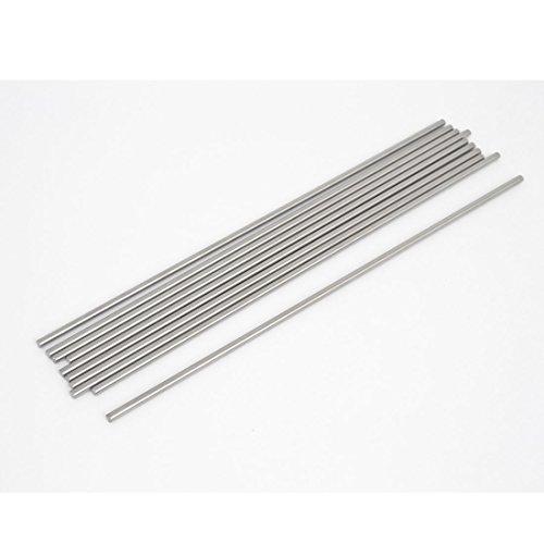 sourcingmap-10-pezzi-3mm-dia-lunga-19-cm-in-acciaio-inox-barre-tonde-di-trasmissione
