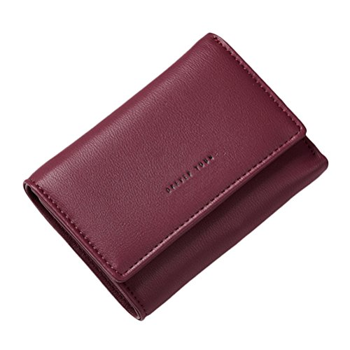 Zhuhaitf Two Fold Wallet Short Handbag Small Card Holder Stilvoll Zipper Coin Pocket Purse for Ladies Girls (Two Fold Damen Wallet)
