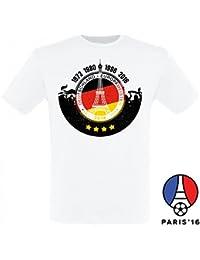 Deutschland Fussball Fanshirt Europameister T-Shirt zur EM 2016 für Männer und Frauen
