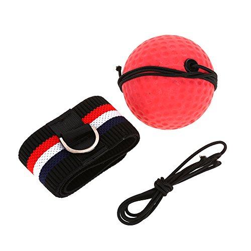 Alomejor Boxing Reflex Ball mit Elastischem Kopfband für Punch MMA Geschwindigkeit Fokus Training Erwachsene Kinder Übung Praxis Fitness Set(Rotes Stirnband)