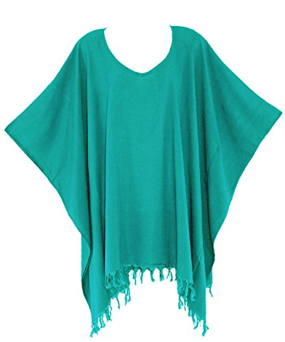 Beautybatik - Camicia -  donna Turquoise