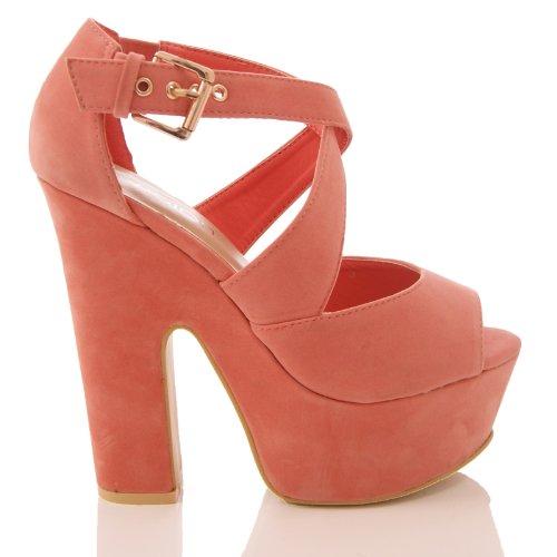 Solewish, Scarpe con plateau donna rosa - Coral Suede