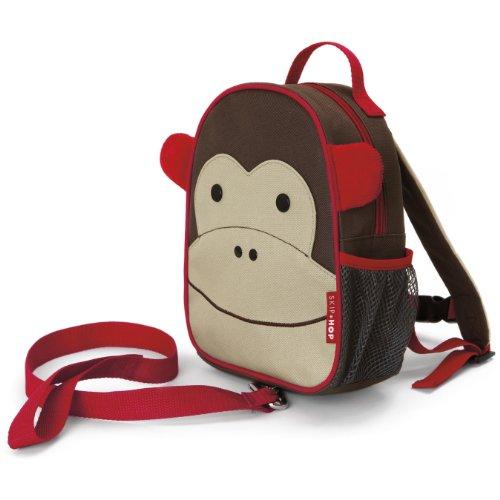 Skip Hop Zoo Rucksack, für Kinder, mit Leine, Sicherheitsleine, mehrfarbig, Affe Marshall