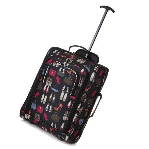 5 Cities Cabin Handgepack Leicht Trolley Taschen 42L (1 Stück, Taschen und Schuhe - Schwarz) Taschen und Schuhe - Schwarz