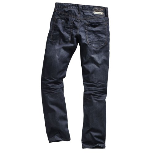 "Timezone Herren Jeans Normaler Bund Pierro ""3115 toweled wash"" 26-5406 Blau (toweled wash 3115)"