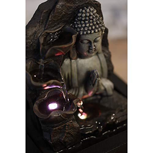 Zen\'Light SPIRITUALITE - Fuente de polirresina de Color marrón Oscuro, 21x 21x 26cm.