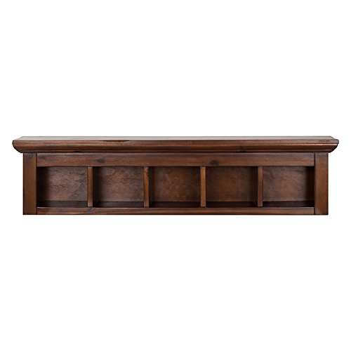 The Attic French Style Meadow Wall Shelf (Matt Finish, Walnut)