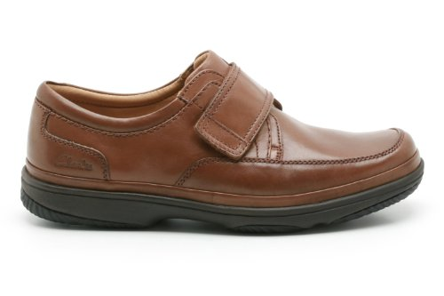 Clarks Swift Turn, Stivali uomo One Size Fits All Mahogany Leather