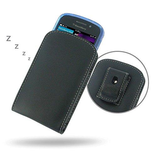 PDAir BlackBerry Q10 Echtes Leder Case mit Gürtelclip (Fit Phone mit Einem dünnen Fall oder dünne Haut auf) Ledertasche, Handarbeit Vertikales (Blackberry Otterbox Q10)