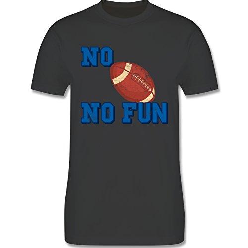 Sonstige Sportarten - No Football no Fun Vintage - Herren Premium T-Shirt Dunkelgrau