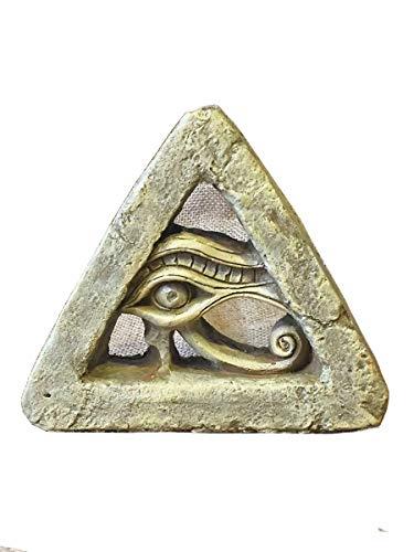 Alte ägyptische Tischdekoration, Das Auge des Horus Alte ägyptische Skulptur Ägyptische Handwerk Souvenir Büro Dekoration 15 * 15 * 4,1 Cm