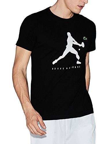 Lacoste Men's Crew Neck Jersey Men's Black T-Shirt Cotton