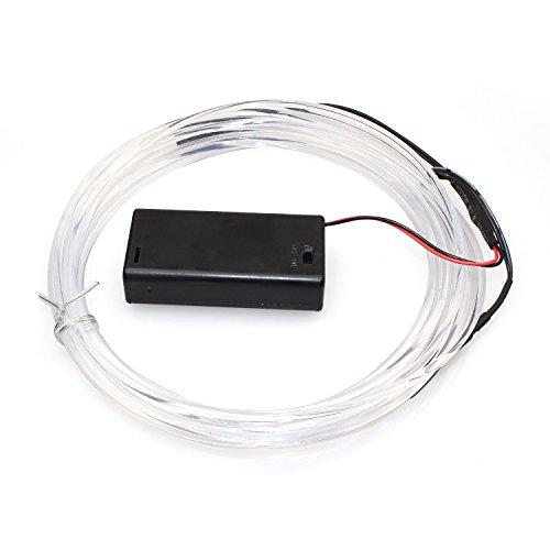 CISTWIN 5m weiße Batterie angetriebene Fee-Schnur-Lichter 2 LED-Faser-optisches LED-Licht für Festival-Tag-Danksagungs-Tagesweihnachts-Tag-Neujahrs-Geburtstags-Party CIS-57689W