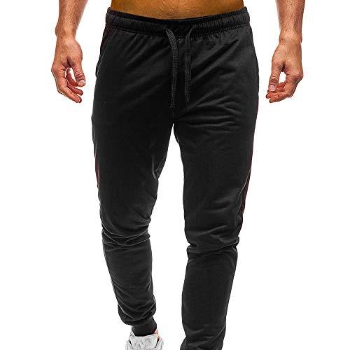 Fuibo Pantalon Homme Ceinture élastique à Long Jogging Pantalons De Sport De Survêtement Élastique Printemps Doux Et Confortable Mode Basique Jogger Pants Grande Taille S-2XL