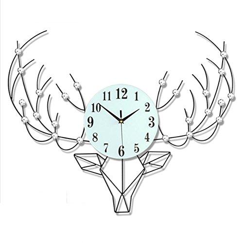 LXZ 20'' Luxury Artificial Crystal Diamond Large Wall Clock Metal Living Room Wall Clock Home Art Decoration ,Iron