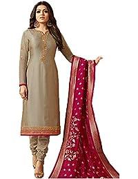 28ed2c6364 Stylish Fashion Women's Silk & Georgette Dress Material (LT-2002_Beige_42)