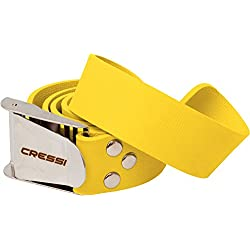 Cressi Weight Belt W/Plastic Buckle Ceinture de Lest Mixte Adulte, Jaune/Yellow, Unique
