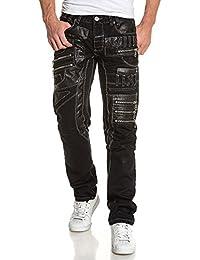 BLZ jeans - Jeans street noir fantaisie effet cuir