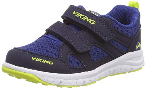 Viking Unisex-Kinder ODDA Cross-Trainer, Blau (Navy/Lime 588), 32 EU
