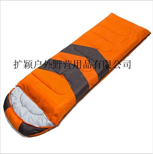 RTGFS Schlafsack Thick Warm Camping Schlafsack Outdoor Large Space Envelope Schlafsack V Wort Schlafsack 1,9 kg Orange - Coleman Damen Schlafsack