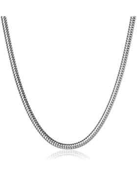 BODYA 1PC stunning 925 Silver Plated 3mm Snake Chain Necklace 18 inch fashion women men Jewelry