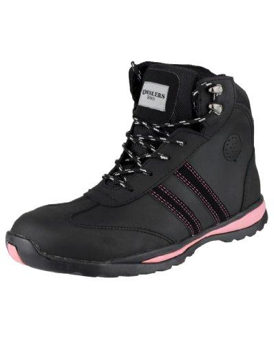 Amblers Steel, Damen Stiefel & Stiefeletten  * 36.5, schwarz - schwarz - Größe: 42 2/3 Schwarz
