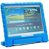 Funda Infantil Cooper Cases (TM) Dynamo para Samsung Galaxy Tab S 10.5 / LTE en Azul + Protector de Pantalla gratuito (Ligera, absorción de impactos, Espuma EVA segura para los niños, Asa incorporada, y soporte para visionado)