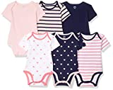 Amazon Essentials Lot de 6 bodys à manches courtes pour bébé fille, Girl Heart Stripe, Preemie