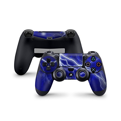 Skins4u Sony Playstation 4 Skin PS4 Controller Skins Design Sticker Aufkleber styling Set auch für Slim & Pro - Apocalypse Blue
