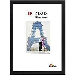 CRIXUS Crixus35 Cadre Photo pour Photos 80 cm x 120 cm, Couleur: Noir Mat, Cadre en Bois MDF Fait sur Mesure doté d'Un Verre synthétique antireflet, Dimension extérieure: 85,8 x 125,8 cm