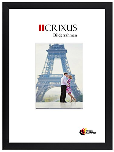 Crixus35 Cadre photo ,Puzzle Cadre pour 75 x 98 cm puzzles, couleur: Noir Mat, cadre en bois MDF fait sur mesure doté d'un verre synthétique antireflet et le panneau arrière de MDF, largeur du cadre: 35mm, dimension extérieure: 80,8 x 103,8 cm