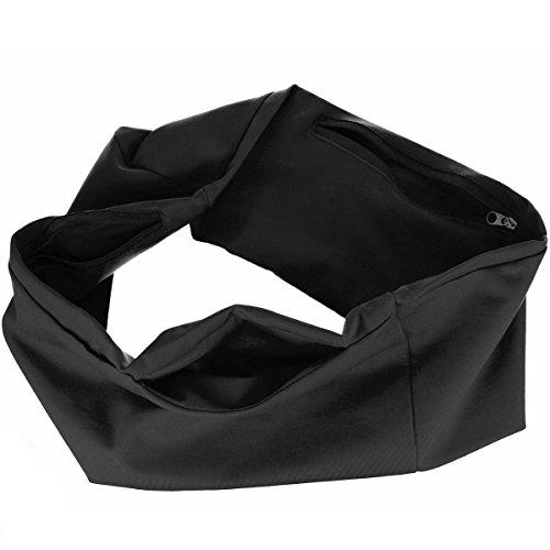 Oramics Fitness-Gürtel, elastische Hüft-Tasche für Sport u. Freizeit (XL / XXL (100-110cm Hüftumfang)) (Freizeit Hüfttasche Gürtel)