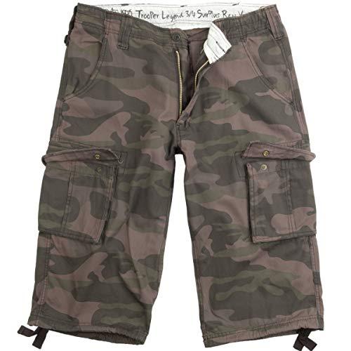 Surplus Trooper Legend 3/4 Shorts M Schwarz Camouflage Surplus Chino Hose