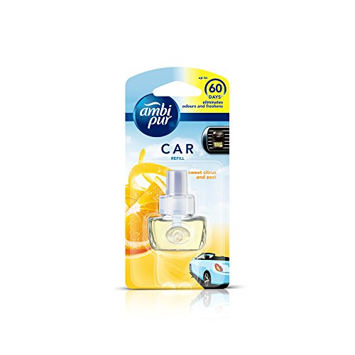 Ambi Pur Sweet Citrus and Zest Car Air Freshener Refill (7.5 ml)