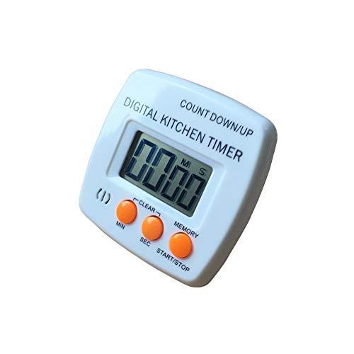 Fablcrew Minuterie Numérique de Cuisine Electronique Compte à Rebours avec Grand écran LCD et Alarme Sonore 7.9 * 7.6 * 1.7CM Fablcrew